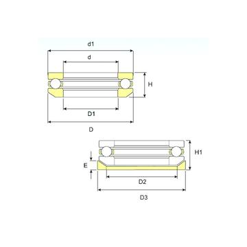 53211 U 211 ISB 53211 U 211 ISB Thrust Ball Bearings