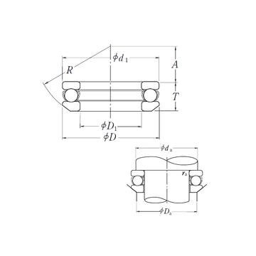 53305 NSK 53305 NSK Thrust Ball Bearings