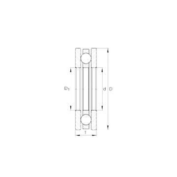 4454 INA 4454 INA Thrust Ball Bearings