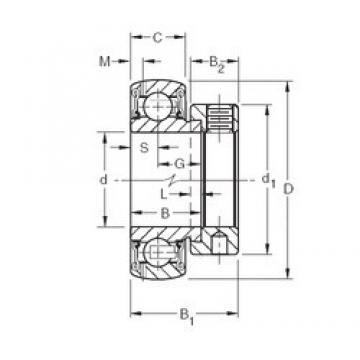 Bearing 1206-K-TVH-C3 + H206 FAG Original import