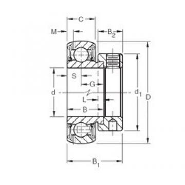 Bearing US206G2 SNR Original import